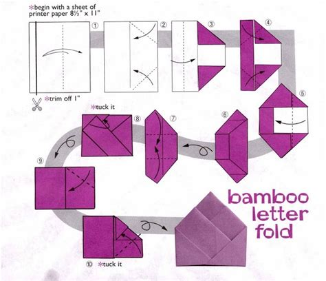 Bamboo Letter Fold Origata