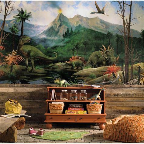 dinosaurs murals walls new xl dinosaurs prepasted wallpaper mural boys bedroom