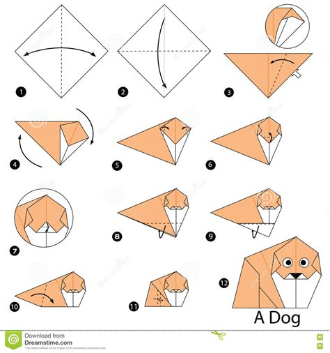 how to make origami dogs step by step how to make origami a stock