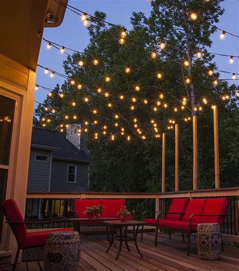 patio deck lighting how to plan and hang patio lights