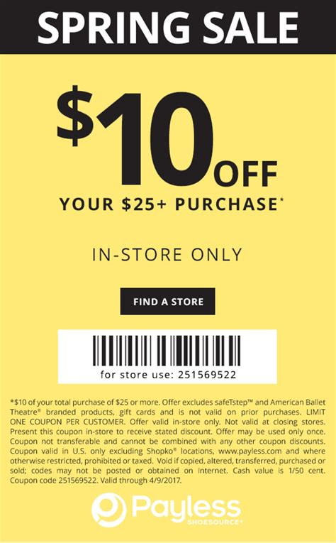coupon code payless shoes coupons printable coupons in store
