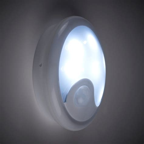 battery lights battery powered pir sensor wall light with 6 white leds