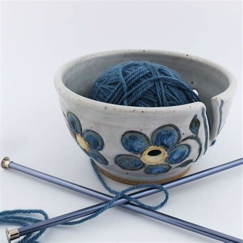 knitting bowl pottery buy a handmade pottery knitting crochet yarn bowl made