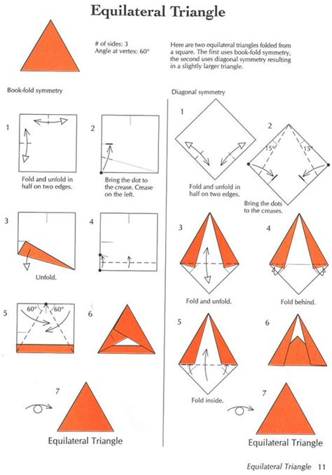 the math and magic of origami from origami and math dover publications equilateral