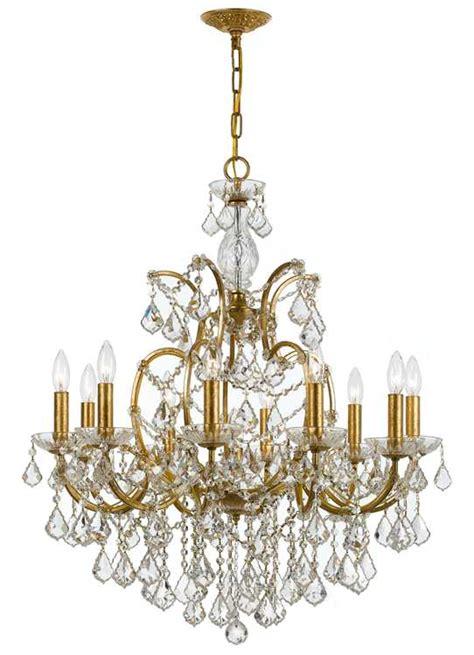 swarovski spectra chandelier crystorama filmore 10 light swarovski spectra gold chandelier