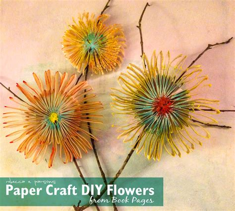 diy paper flowers craft fresh bouquet paper craft diy flowers from book
