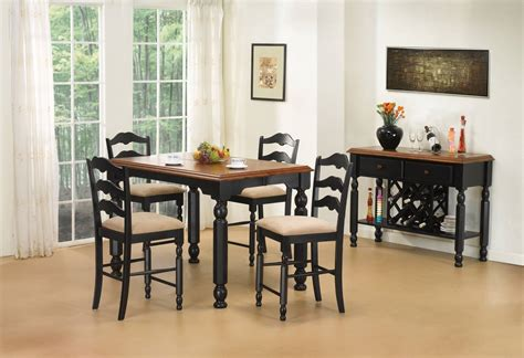 pub dining room set dining room set pub height 6 chairs chair pads cushions