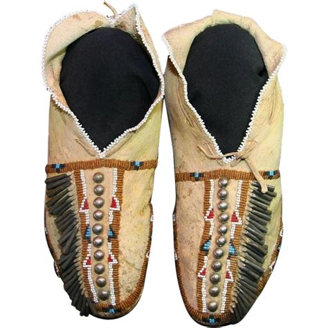 American Osage S Beaded Moccasins From