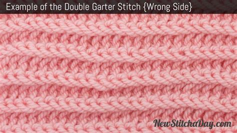 garter stitch in knitting the garter stitch knitting new stitch a day