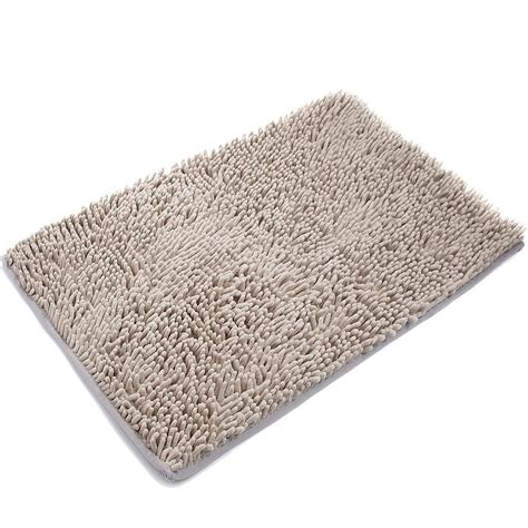 shag bathroom rugs gray jersey shag bath mat world