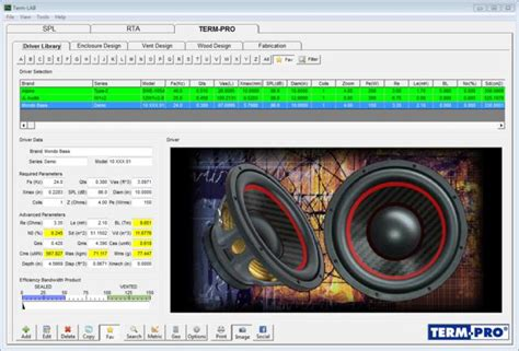 term pro enclosure design software free term pro loudspeaker enclosure design software
