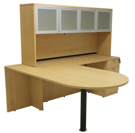 maple l shaped desk maple peninsula u shaped workstation with hutch