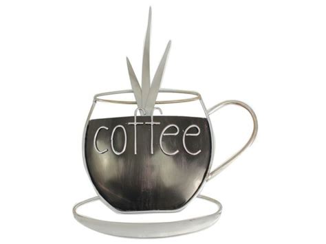 metal ornaments home decor metal plaque kitchen coffee cup wall ornament home