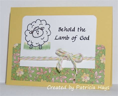 religious easter cards to make easter lambs