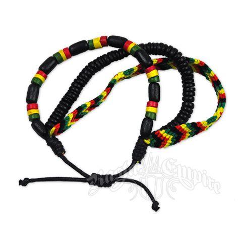 rasta bead bracelet rasta bead and weave bracelet 3 in 1 set rastaempire