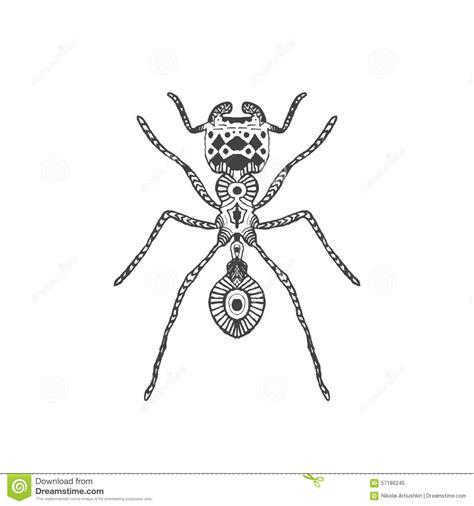 zentangle stylized ant stock vector image 57186245