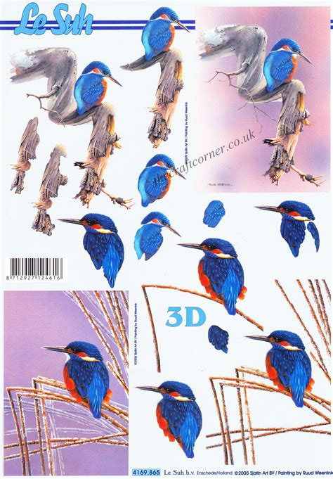 decoupage step by step kingfisher 3d step by step decoupage sheet