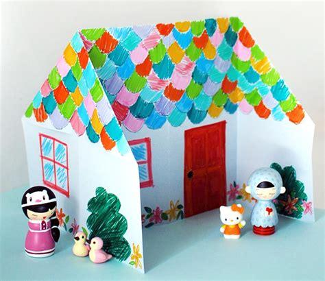 craft work for at home origami casa de paper per decorar i jugar totnens