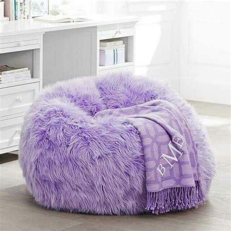 purple bean bag chairs fur rific lilac beanbag slipcover small purple bean