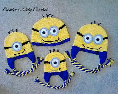 free knitted minion hat pattern gorrito minions crochet minion hats