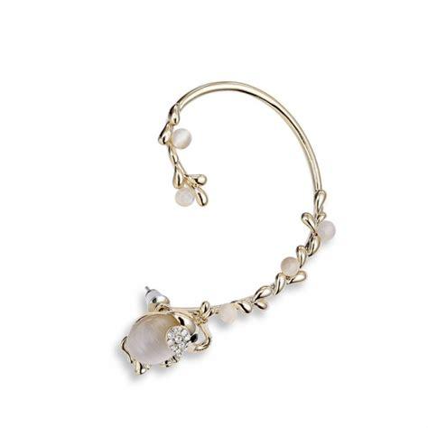 wrap jewelry gold cats eye elephant ear cuff earring
