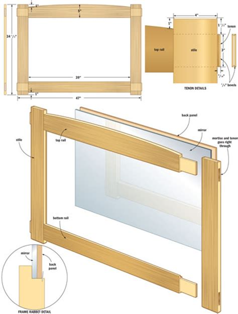 woodworking picture frame plans pdf diy woodworking plans mirror frame