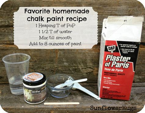 chalk paint diy plaster of sunflowerhugs my version of diy chalk paint