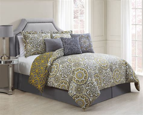 gray and yellow comforter sets 7 jezebel gray yellow reversible comforter set