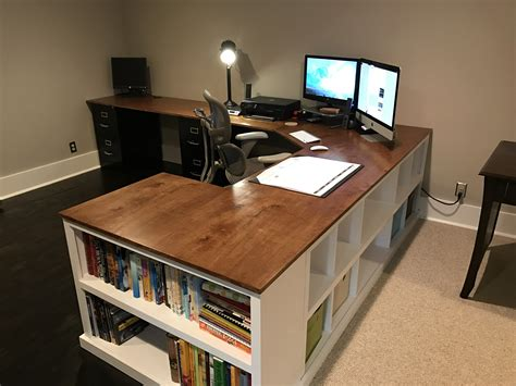 corner desk ideas cubby bookshelf corner desk combo diy projects office