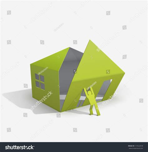 origami to buy origami house builder for your easy stock vector 115522918