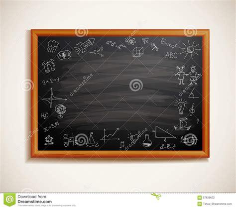 tableau noir dans un cadre en bois illustration de vecteur image 57828622