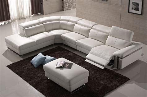 canap 233 d angle relax en cuir buffle italien de luxe relaxino blanc angle gauche mobilier priv 233