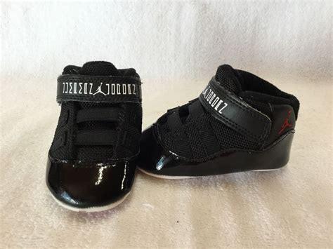 baby crib shoes jordans nike air 11 retro bred infant baby boys black