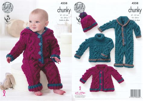 cable knit sweater onesie king cole baby chunky knitting pattern cable knit sweater