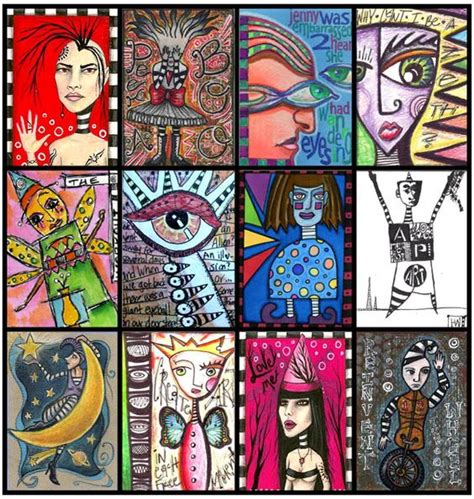 how to make artist trading cards illustratedatcs artist trading cards card