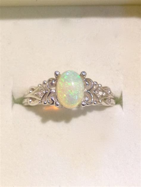 Opel Rings by Australian Opal Ring Vintage Style Opal Ring With By