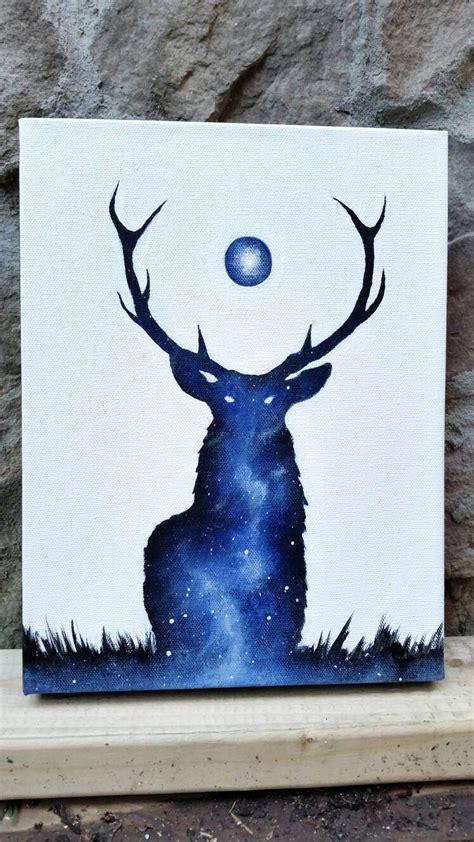 groupon paint nite deer deer painting exposure deer galaxy canvas painting