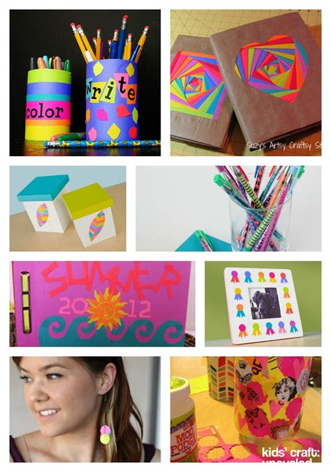 school crafts bright papers for back to school family crafts