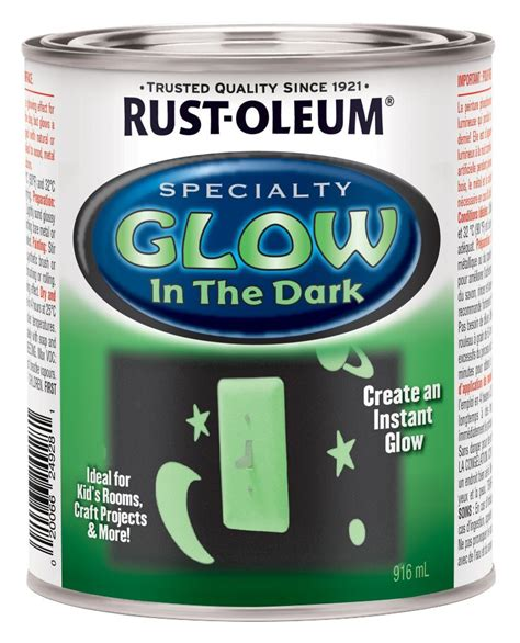 glow in the paint bc rust oleum specialty glow in the 946ml the home