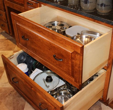 Fresh Kitchen Cabinet Corner large pots amp pan drawers healthycabinetmakers com