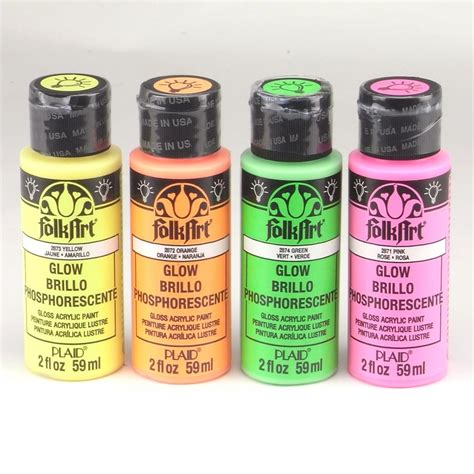 plaid folk acrylic paint uk folkart acrylic paint glow in the set plaid from