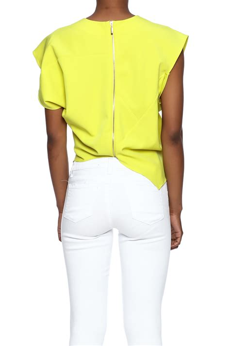 origami tops gracia yellow origami top from west by pink