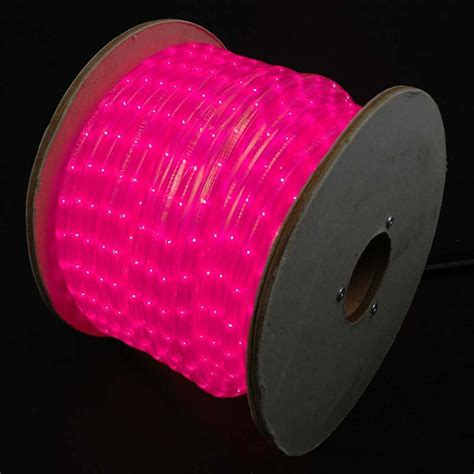 150 foot led rope light 150 pink incandescent rope light spool 1 2 quot 120v