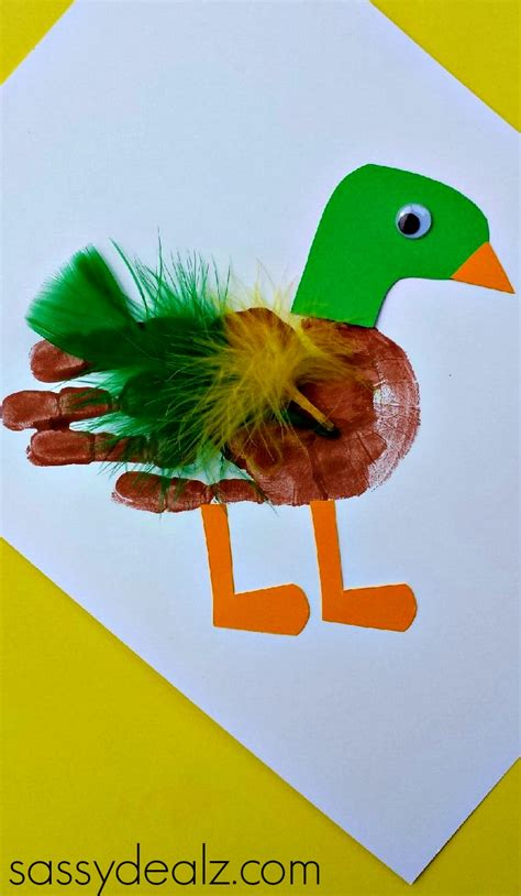 print crafts mallard duck handprint craft for crafty morning