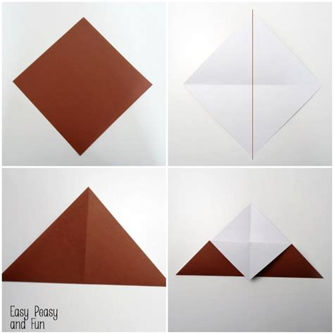 origami corner bookmark reindeer origami corner bookmark easy peasy and