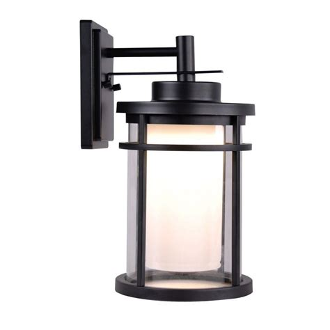 outdoor wall light led home decorators collection black outdoor led medium wall