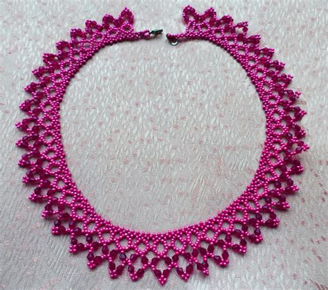 seed bead choker patterns free pattern for beaded necklace incanto magic