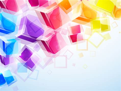 3d business colorful square free ppt backgrounds for your