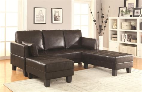 sofa bed and sofa set coaster 300204 brown leather sofa bed and ottoman set