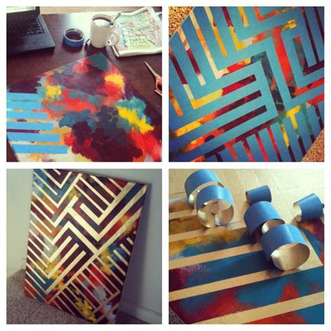 spray painting diy diy painting paint canvas with colors design with